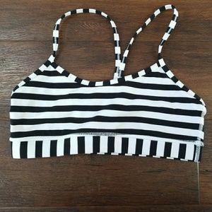 Lululemon striped flow Y sports bra 8